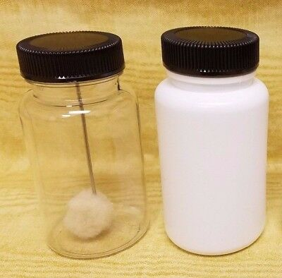 10 pack of 4oz (120mL) Empty Plastic Dauber Bottles - Clear or White