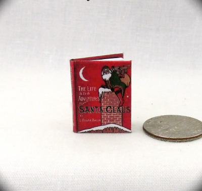 SANTA CLAUS Dollhouse Miniature Book 1:12 Scale Readable Illustrated Christmas