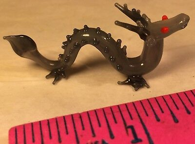 Dragon Serpent Vintage Hand Made Glass Serpent Dragon Figurine Missing Whiskers