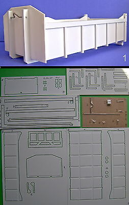 Polystyrol Bausatz Abrollcontainer Mulde 1:24 CNC 1/24 roll-off container (05)