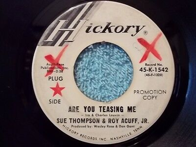 Sue Thompson & Roy Acuff, Jr-Are You Teasing Me / Thoughts-1969-45rpm-VG   Promo