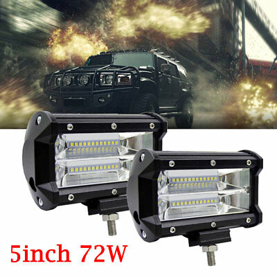 5inch 72W LED Work Light Bar Flood Spot Combo Off-road Driving Lamp Car Truck