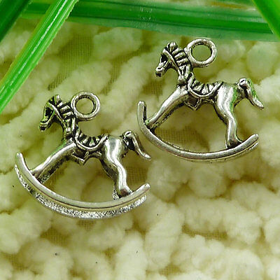 Free Ship 30 pieces tibetan silver cockhorse charms 21x20mm #1707
