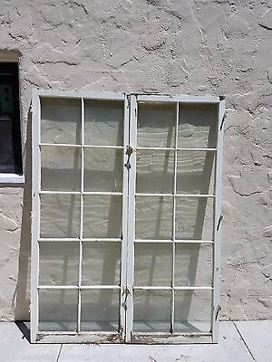 "Pair of Antique Vintage Wood French Doors (60""x80"")"