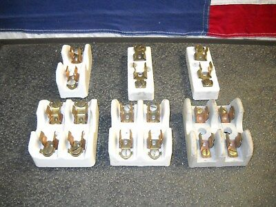 Mixed Lot of Single & Double Ceramic 250 Volt 30 Amp Fuse Base High Voltage