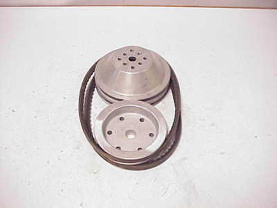 Aluminum V-Belt Water Pump, Belts & Lower Drive Pulleys for SB Chevy Short Style