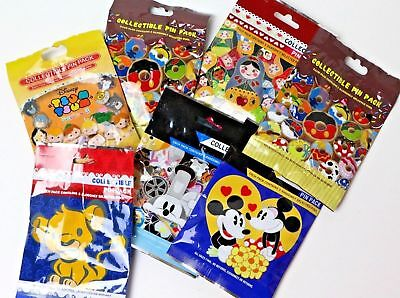 Disney * Mickey Minnie* 6 PACKS * NEW 5-pin Collectible Mystery Pack Pins