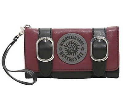 Supernatural Winchester Brothers Double Buckle Wristlet Trifold Flap Wallet