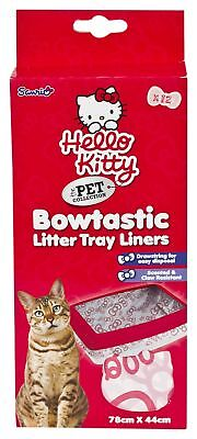 Hello Kitty Bowtastic Cat Litter Tray Liners