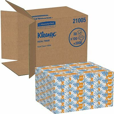 Kimberly-Clark Professional Facial Tissues 2-Ply 100 Shts/BX 30BX/CT White