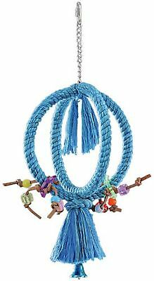 Nobby 31264 Crossed Climbing Ring for Pet Birds Small  21 cm Blue
