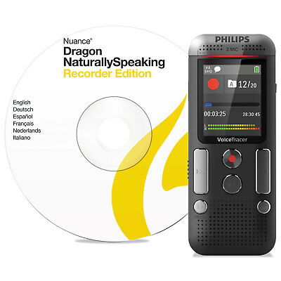 Philips Voice Tracer 2710 Digital Recorder with Speech Recognition Software 8 GB