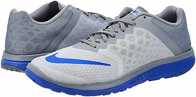045a45bdf9b MEN S NIKE FS Lite Run 3 Running Shoes NEW Wolf Grey   Racer Blue ...