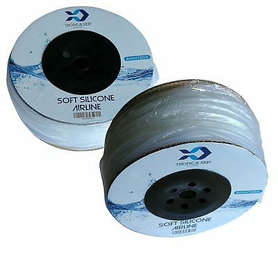 Heritage 100M Roll Silicone Airline Air Tube Pond Or Aquarium Air Line Hose