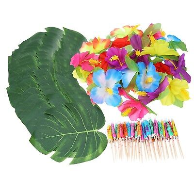 Shappy 98 Pieces Hawaiian Luau Theme Party Decorations Including 24 Pieces Tr...