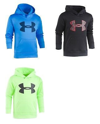 New Under Armour Boys' Printed-Logo Hoodie 5, 6, and 7