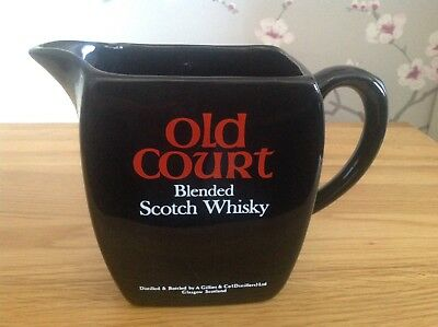 Vintage Old Court Whisky Water Jug