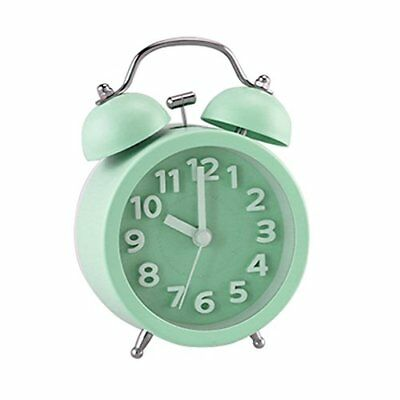 "PiLife 3"" Mini Non-ticking Vintage Classic Bedside /Table Analog Alarm Clock ..."