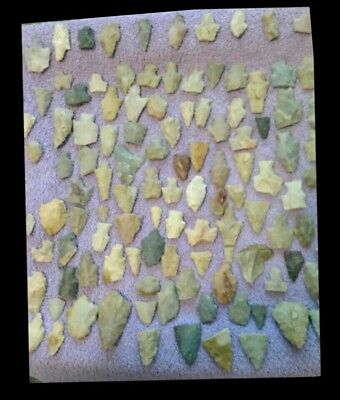 Authentic Collection Of Indian Artifacts Arrowheads & Spearheads Lot 173 Pieces