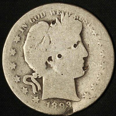 1893-S Barber Half Dollar - Impaired - Free Shipping USA