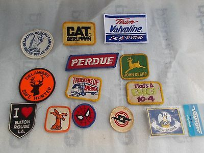 Vintage Lot Of 13 Cloth Patches