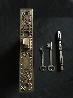Antique Collectible Russell & Erwin Japanese Collection Entry Mortise Lock