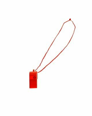 Zac's Alter Ego® Red Whistle with Neck String for Lifeguard/Referees