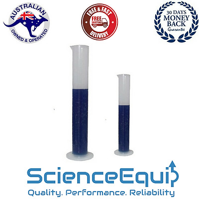 Measuring Cylinder Graduated with Spout, Autoclavable Plastic 4 Sizes 1/6/12 pc