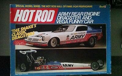 """Revell Don """"The Snake"""" Prudhomme Army Rear Engine Dragster & Vega Funny Car 1/16"""