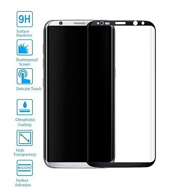 protective lot of Screen Glass Tempered Curved 3D Samsung Galaxy S8 Black