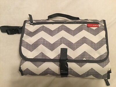 Skip Hop Portable Changing Station, Grey And White Chevron Print