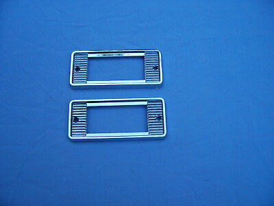 New 1968 Chevy El Camino+Station Wagon Rear Qtr Side Marker Bezels 1384373 1 Pr