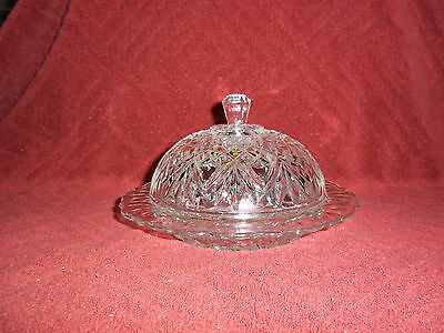 VINTAGE Anchor Hocking Domed cheese/butter dish Pineapple Prescut Round
