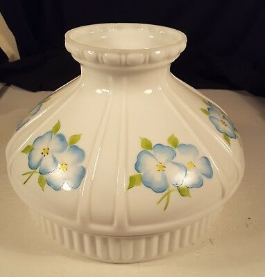 """Vintage Antique Cased Glass Aladdin Student GWTW Flower Lamp Shade Coleman 10"""""""