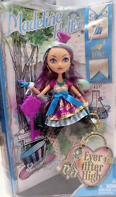 NIB 2013 Mattel Ever After High Madeline Hatter Doll w/Bookmark and Story