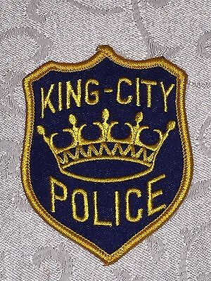 Defunct King City California Old Style Police Patch