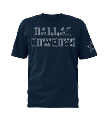 NFL Dallas Cowboys Mens Double Cut Short Sleeve T-Shirt - Navy