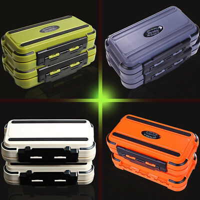 24 Compartment 2 Layer Waterproof Fishing Lure Bait Tackle Storage Box Case Supr