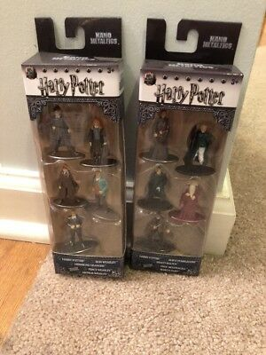 Harry Potter Nano Metalfigs Pack A & Pack B 10 Figures NEW Hermoine Ron Weasley