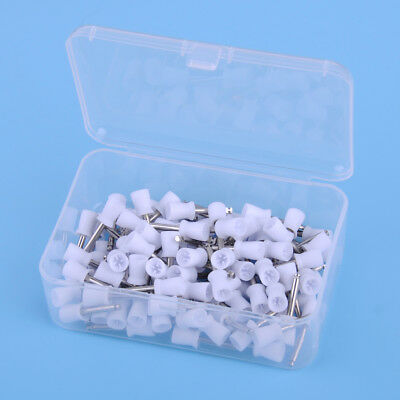 100Pcs Dental Rubber Prophy Tooth Polish Polishing Cup Brush Latch Type Dentist