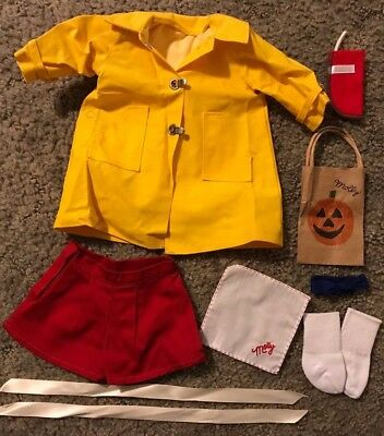 American Girl Molly Lot Ribbons Socks Arm Band Halloween Bag Rain Coat