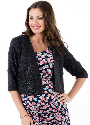 NEW - Everly Grey - Ruby Jacket in Black Shimmer | Maternity Clothes- FINAL SALE