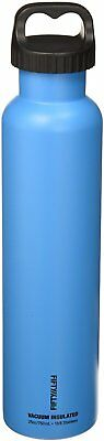 Vacuum Insulated Water Bottle with Two-Finger Grip Lid, 25 oz Crater Blue