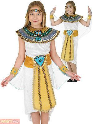 Girls Egyptian Costume Queen Cleopatra Fancy Dress Toga Child Book Day Outfit  sc 1 st  PicClick UK & GIRLS EGYPTIAN COSTUME Queen Cleopatra Fancy Dress Toga Child Book ...