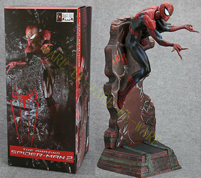 "Crazy Toys The Amazing Spiderman 18"" Peter Paker Action Figure Model Black"