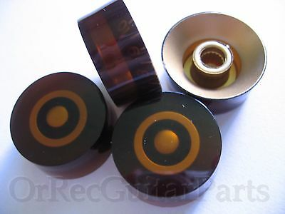 4 x Gibson, Epiphone LP Replacement Amber ( Bernstein ) Speed Knobs,G