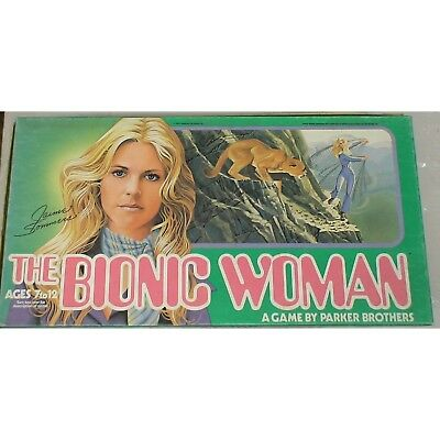 Vintage the Bionic Woman Board Game. MB. Delivery is Free