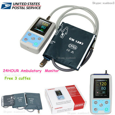 NIBP Monitor 24 HOUR Ambulatory Blood Pressure Monitor Holter +SOFTWARE ABPM 50