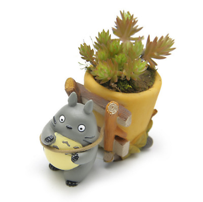 Little Cute Anime Totoro Figure Succulent Plant Flower Pot Planter Ornament Gift
