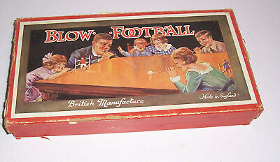 Blow Football Fußball Made in England um 1930 !
